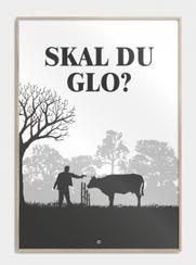 Skal-dun-glo-sjove-citat-på-plakat