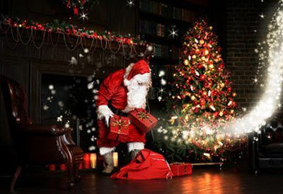 Jeg så julemanden kysse mor