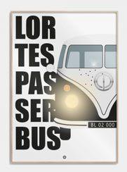 Lortespasserbus-plakater