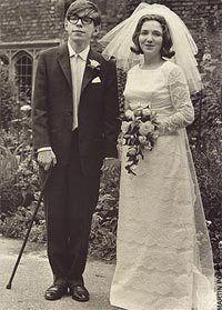 Stephen Hawking gift med Jane Wilde