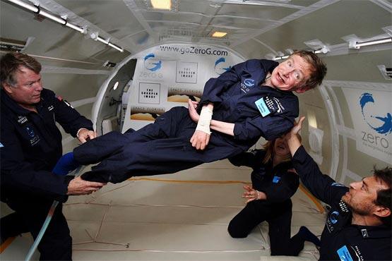 Stephen Hawking i vægtløs tilstand