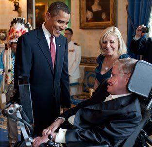 Stephen Hawking møder Barack Obama