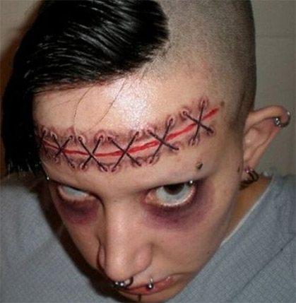Skræmmende tattoo